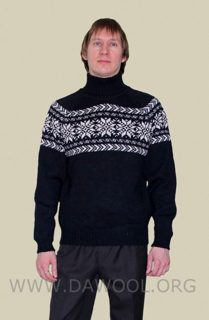Мужской шерстяной свитер 13011