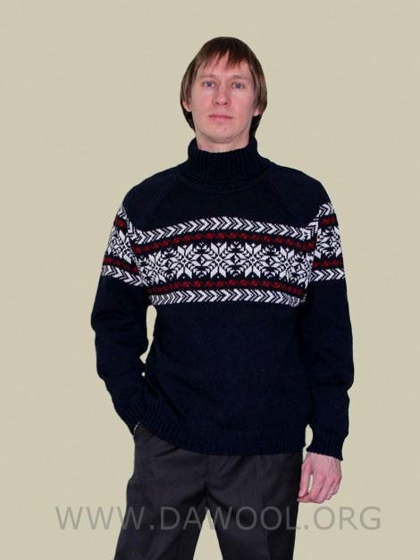 Мужской шерстяной свитер 13012