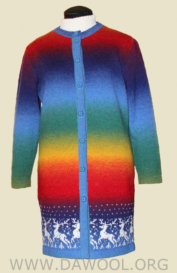 Женский шерстяной кардиган-пальто