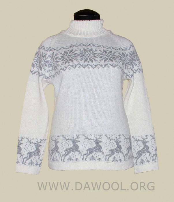 Женский шерстяной свитер 29004