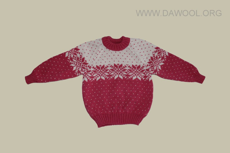 Розовый шерстяной детский свитер