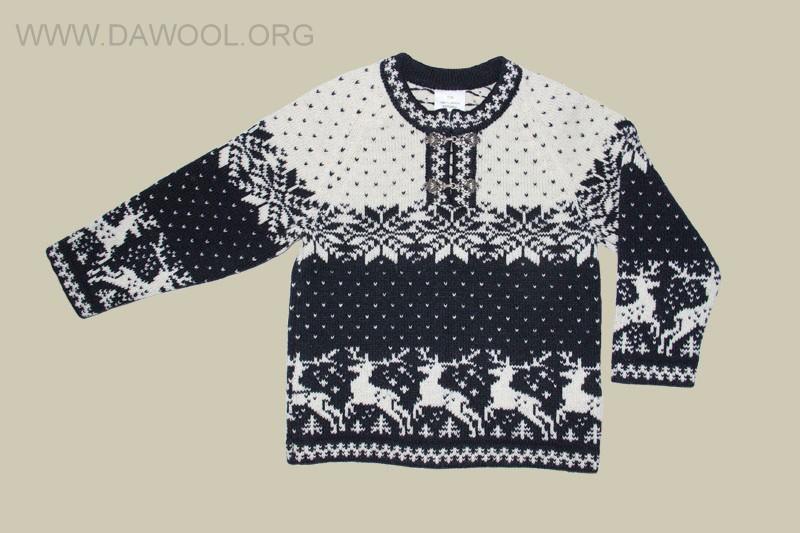 Детский шерстяной свитер