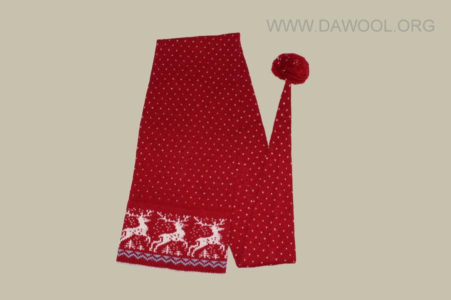 Красный с оленями 1