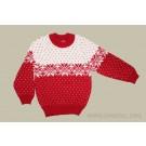 Красный шерстяной детский свитер
