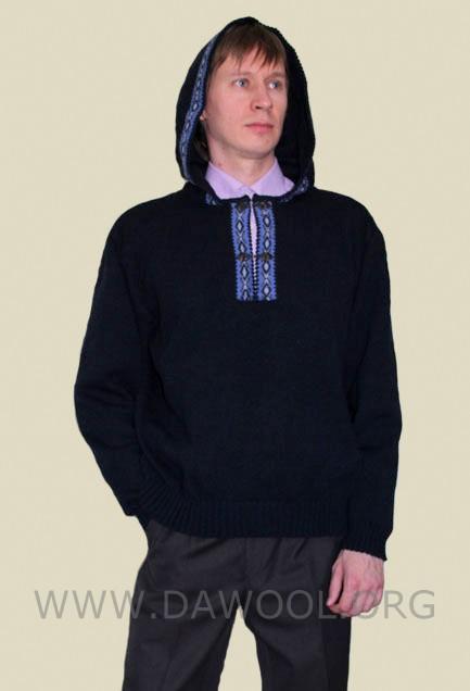 Мужской шертяной джемпер с капюшоном 12009
