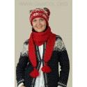 Шапка-шарф 44002